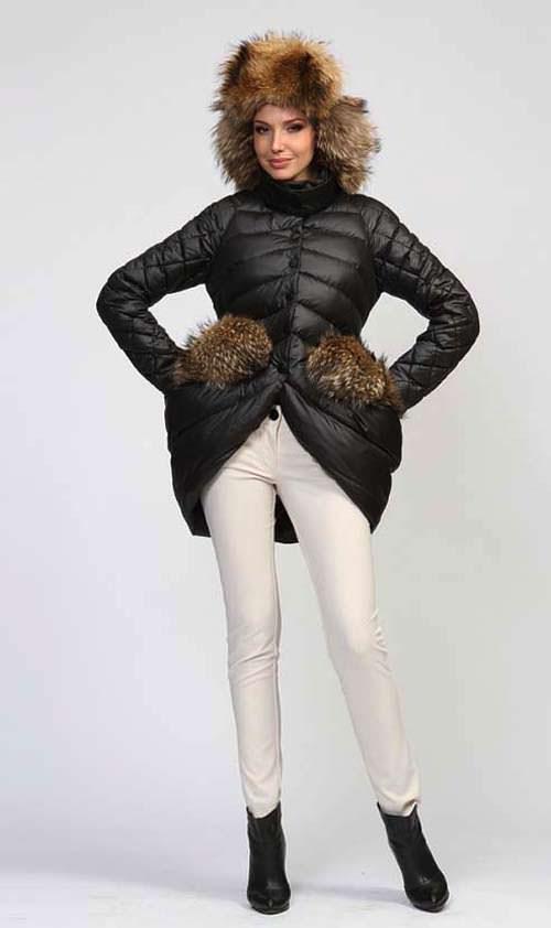 модные пуховики зима 2015 с мехом