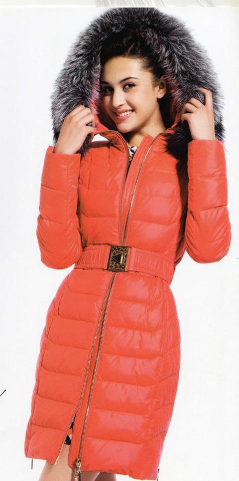 модные пуховики зима 2015 с поясом