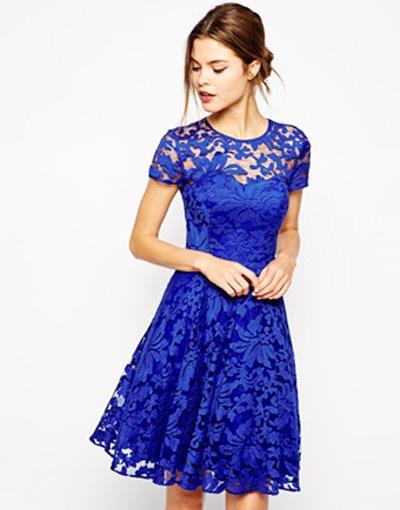 синее платье на Новый год 2015