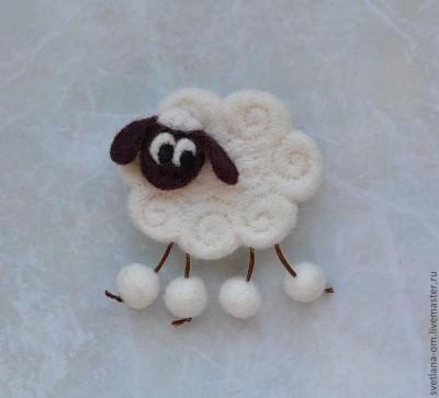 что надеть на Новый год 2015 заколка овечка