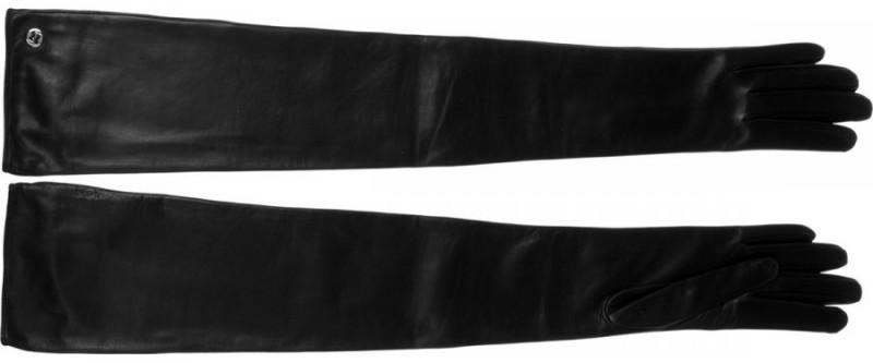 кожаные перчатки до локтя