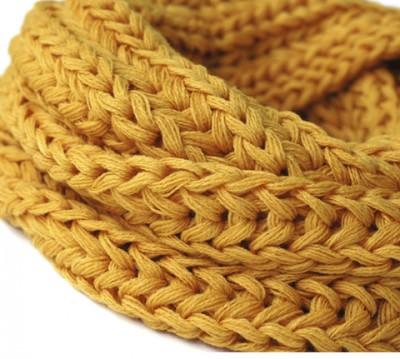 шарфы с крупной вязкой