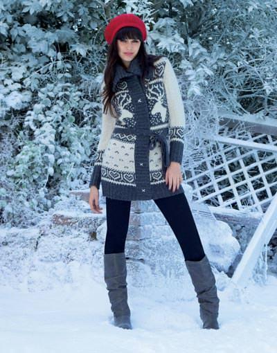 свитера с оленями женские