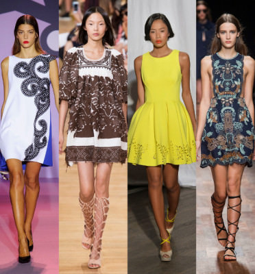 модные платья весна 2020