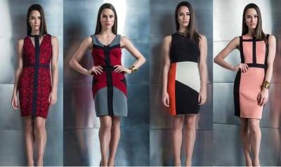 платья с геометрией