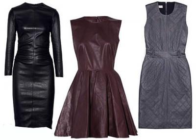 модные кожаные платья 2020