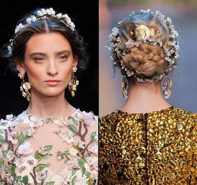 цветочный венок на голову