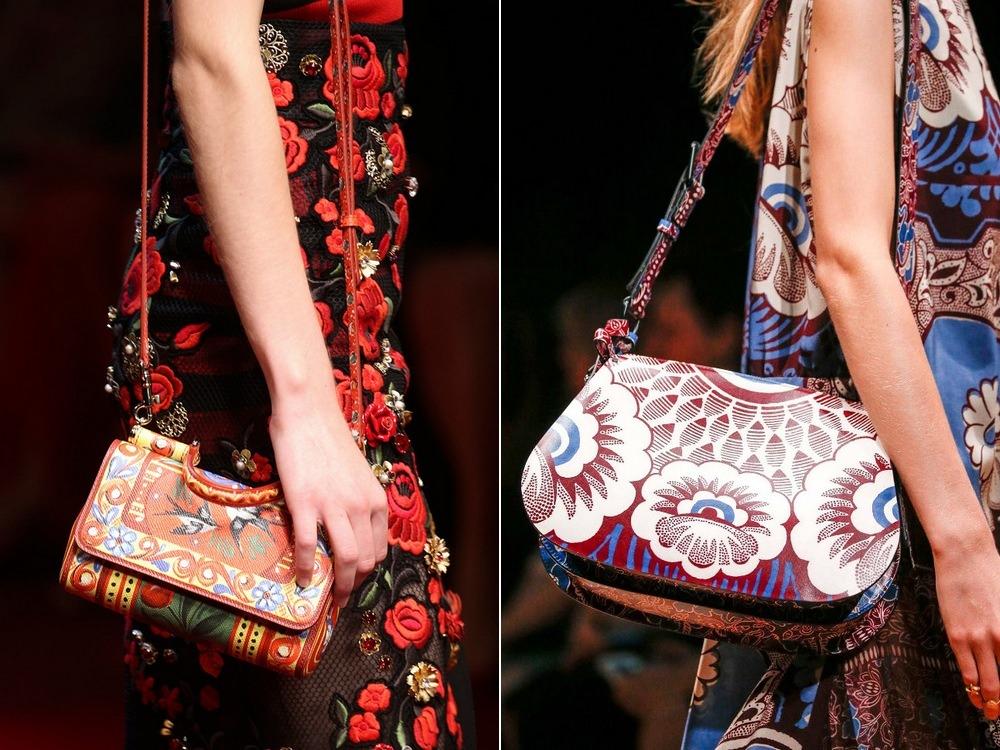 цветочные орнаменты в сумках