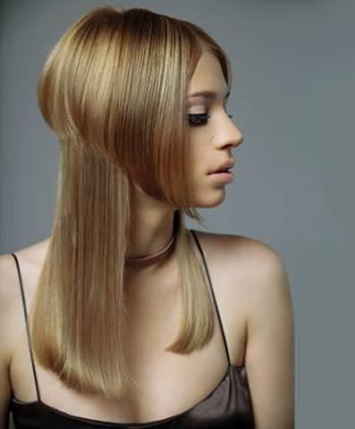 прическа ассиметричная на длинные волосы