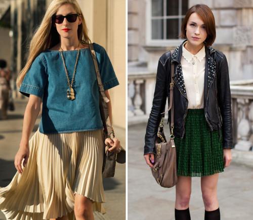 модные юбки весна-лето 2015 плиссе