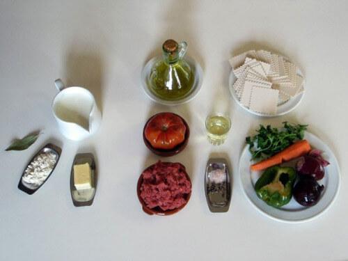продукты на лазанью