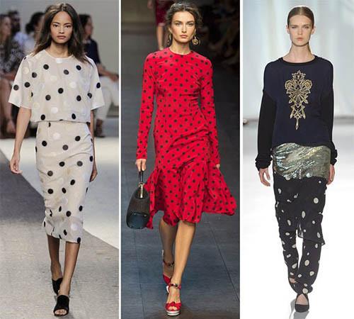 модный принт горох 2015