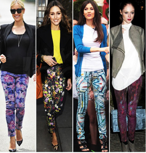 джинсы с принтами