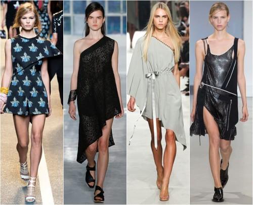 модные ассиметричные платья 2015