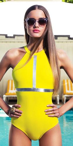 модные купальники 2015 желтый