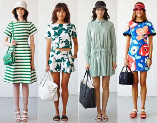 модные принты платьев 2015