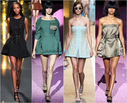 пышные короткие платья лето 2015