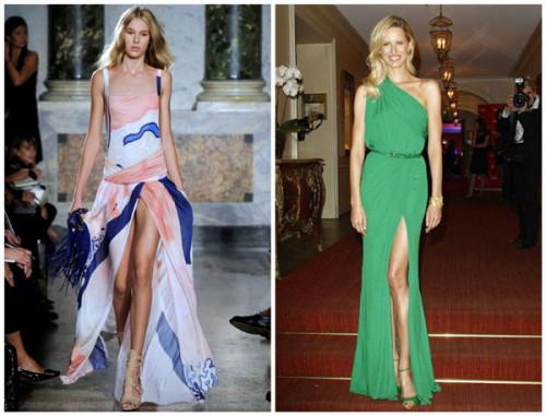 платья с разрезом 2015