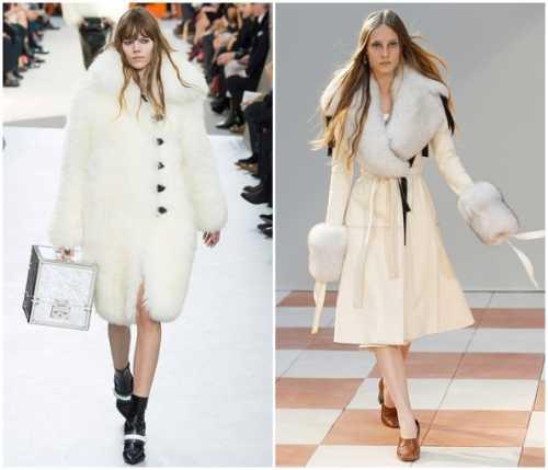 белое пальто на зиму