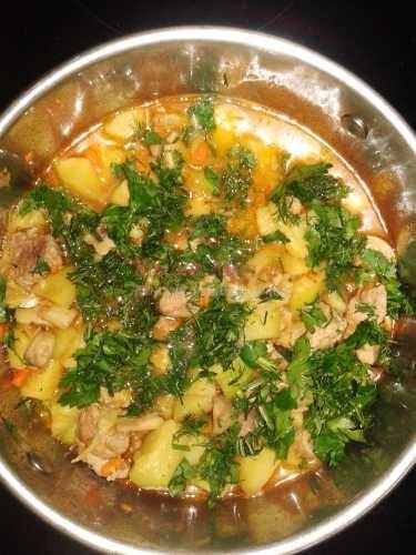рецепт приготовления тушеного мяса с овощами