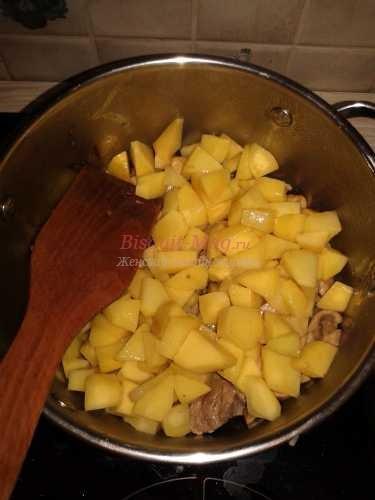 картошка с телятиной