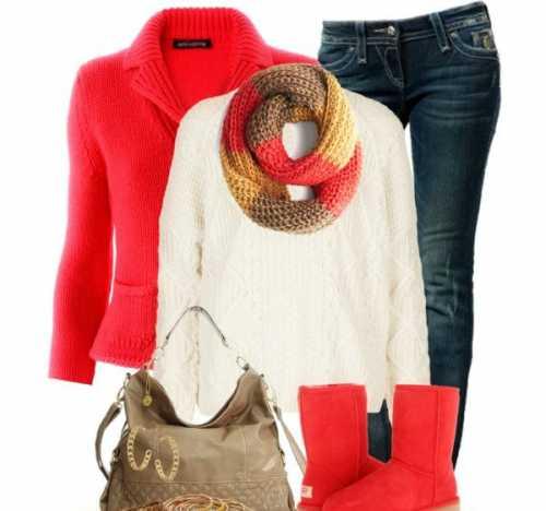 свитер и угги