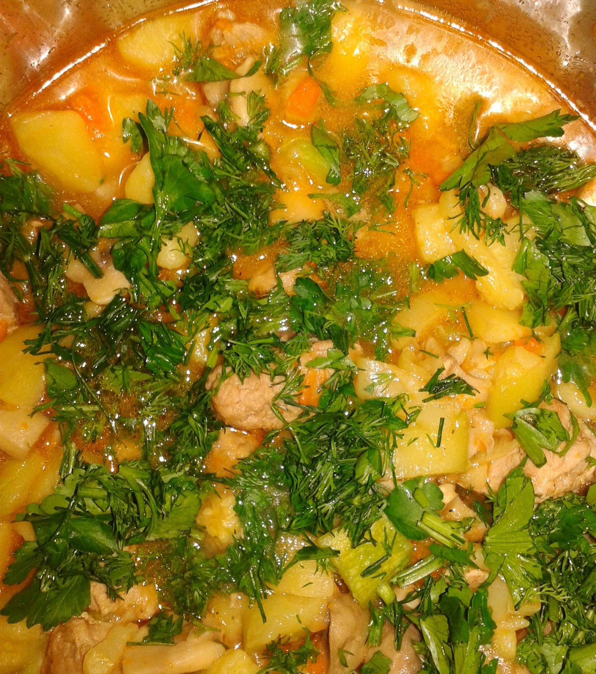 Рецепт свинины тушеной с овощами пошагово