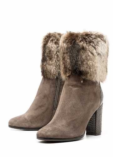 зимние полусапоги на каблуке
