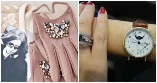 перчатки и часы
