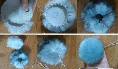 Как сделать помпон на шапку: варианты изготовления