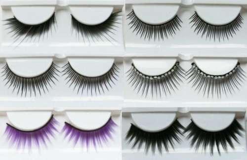 черные и фиолетовые накладные ресницы