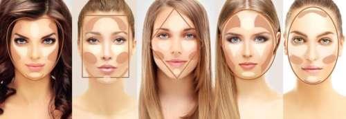коррекция формы лица тональной основой
