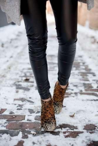 леопардовые ботинки