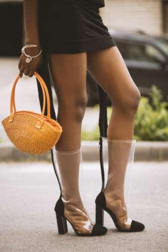 прозрачные женские ботинки
